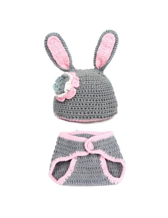 Baby Crochet Rabbit Ears Hat Bottoms